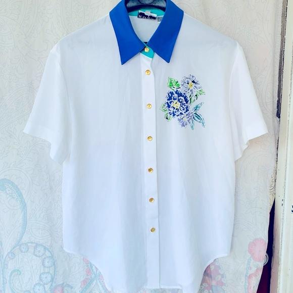 Vtg 80s button up shirt